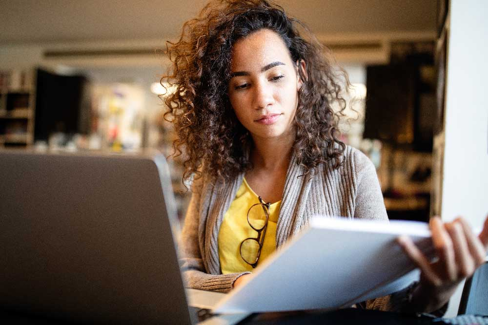young-afro-american-woman-researching-information